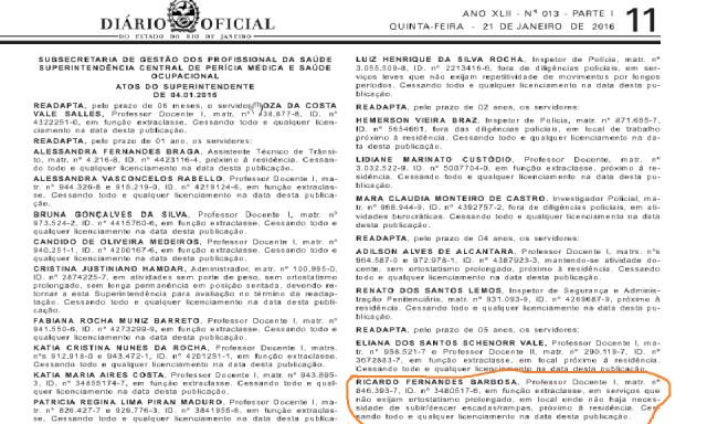 Movimentação - Diario Oficial